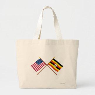 Los E.E.U.U. y banderas cruzadas Uganda Bolsas De Mano