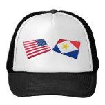 Los E.E.U.U. y banderas de Saba Gorro De Camionero