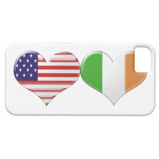 Los E.E.U.U. y banderas irlandesas del corazón iPhone 5 Fundas