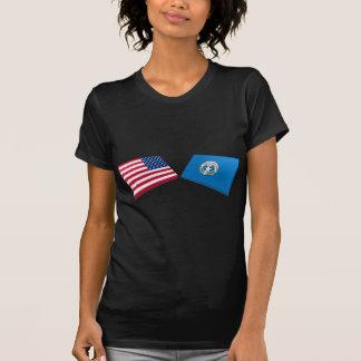 Los E.E.U.U. y banderas septentrionales de las Camiseta
