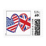 Los E.E.U.U. y corazones BRITÁNICOS de la bandera