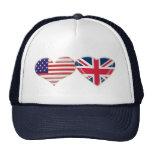 Los E.E.U.U. y diseño BRITÁNICO de la bandera del  Gorra