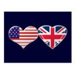 Los E.E.U.U. y diseño BRITÁNICO de la bandera del Tarjeta Postal