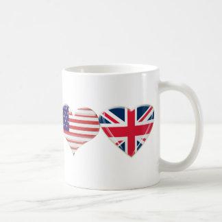 Los E.E.U.U. y diseño BRITÁNICO de la bandera del Taza