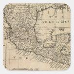 Los E.E.U.U. y México Calcomania Cuadradas Personalizada