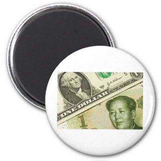 Los E.E.U.U. y moneda china Imán Redondo 5 Cm