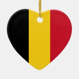 Los E.E.U.U. y ornamento del corazón de la bandera Adorno Navideño De Cerámica En Forma De Corazón
