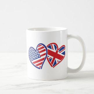 Los E.E.U.U. y Reino Unido en los corazones que Taza Clásica