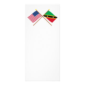 Los E.E.U.U. y St San Cristobal y banderas cruzada Plantilla De Lona