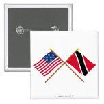 Los E.E.U.U. y Trinidad y banderas cruzadas Trinid Pin