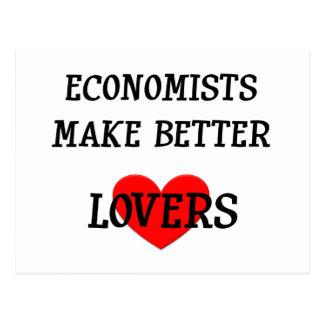 Los economistas hacen a mejores amantes postales