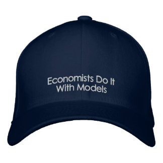 Los economistas lo hacen con el gorra del texto de gorros bordados