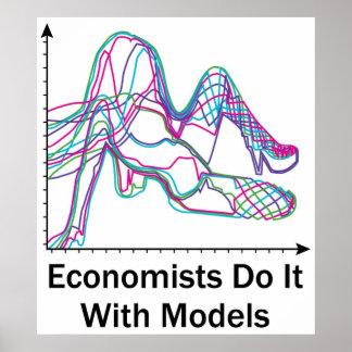 Los economistas lo hacen con el poster de los mode póster