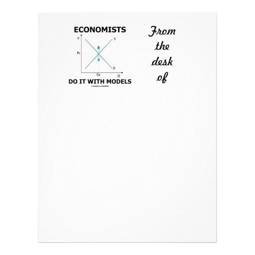 Los economistas lo hacen con los modelos (la curva membretes personalizados