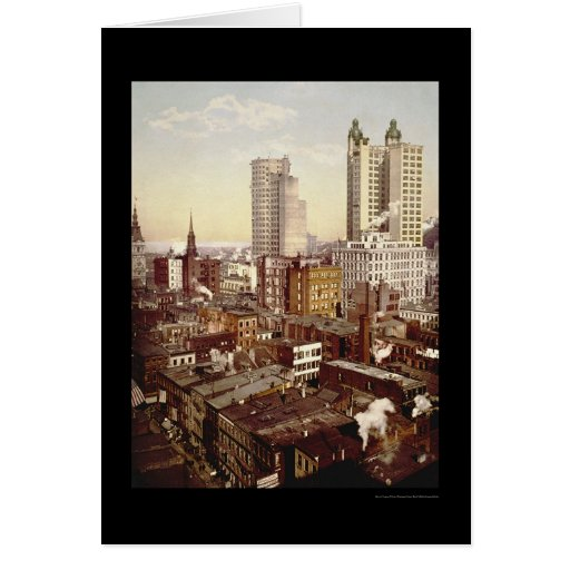 Los edificios más altos New York City 1901 Tarjeta De Felicitación