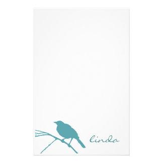 Los efectos de escritorio azules del pájaro - pers papeleria