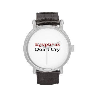 Los egipcios no lloran reloj de mano