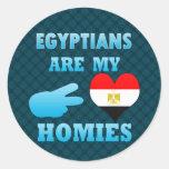 Los egipcios son mi Homies Pegatinas Redondas