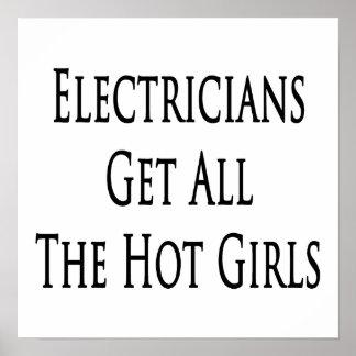 Los electricistas consiguen a todos los chicas cal póster