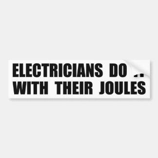 Los electricistas lo hacen con sus julios pegatina para coche