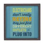 Los electricistas no hacen realmente Retirar-Humor Cajas De Joyas De Calidad