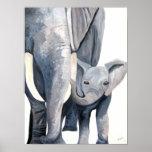 Los elefantes (arte de Kimberly Turnbull) Impresiones