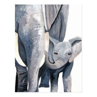 ¡Los elefantes! (Arte de Kimberly Turnbull) Tarjetas Postales