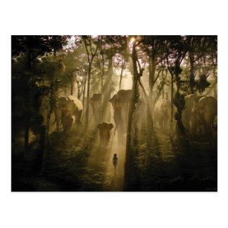 Los elefantes del libro de la selva postal