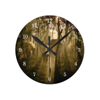 Los elefantes del libro de la selva reloj redondo mediano