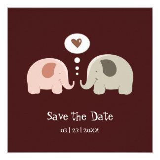 Los elefantes lindos - ahorre la invitación de la
