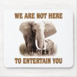 Los elefantes merecen respecto alfombrilla de ratón