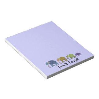 Los elefantes no olvidan las libretas blocs de papel