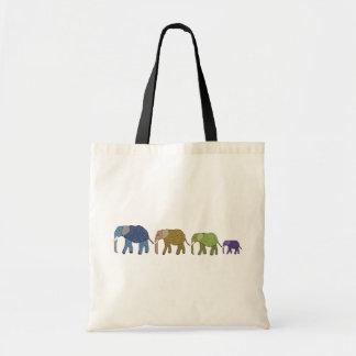 Los elefantes nunca olvidan bolsas lienzo