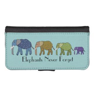 Los elefantes nunca olvidan fundas tipo billetera para iPhone 5