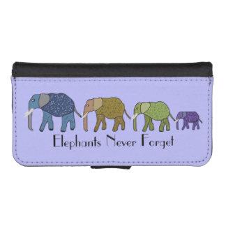 Los elefantes nunca olvidan billetera para teléfono