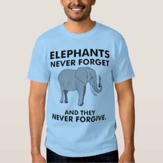 Los elefantes nunca olvidan polera