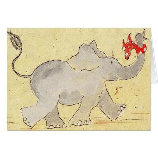 Los elefantes nunca olvidan tarjeta pequeña