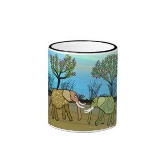 Los elefantes nunca olvidan taza de dos colores