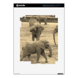 Los elefantes pelan (iPad3, los etc) Pegatina Skin Para iPad 3