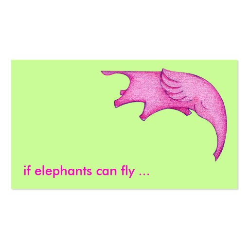 ¡Los elefantes pueden volar! Tarjeta del perfil Tarjetas De Visita