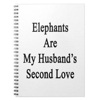 Los elefantes son el amor de mi marido en segundo  libros de apuntes