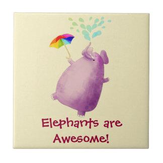 Los elefantes son impresionantes azulejo cerámica