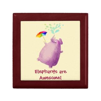 Los elefantes son impresionantes caja de regalo