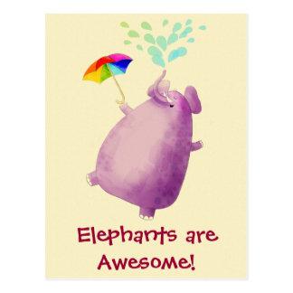 Los elefantes son impresionantes tarjetas postales
