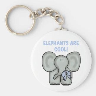Los elefantes son llavero fresco
