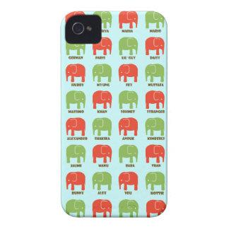 Los elefantes son su caja de BLACKBERRY de los iPhone 4 Protectores