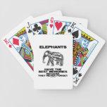 Los elefantes tienen las mejores memorias que nunc baraja cartas de poker