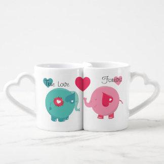 Los elefantes verdad las tazas de los amantes del  tazas para parejas