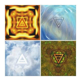 Los elementos impresiones en lona