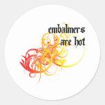 Los Embalmers son calientes Pegatinas Redondas